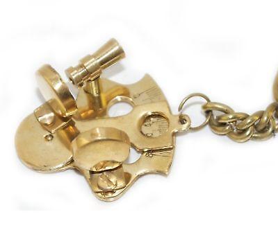 New Sextant Look Brass Nautical Key Ring Keychain Key Fob Key AUS 2