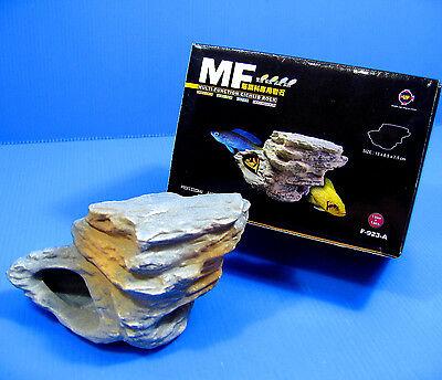4pcs CICHLID STONE Céramique Aquarium Cave Rock Decor pour Tropical Fish Tank 6