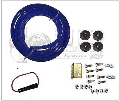 4 Trumpet Air Horn 12V Compressor Kit Blue Tank Gauge for Car Train Truck 4
