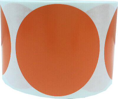 Circle Dot Stickers, 3 Inches Round, 500 Labels on a Roll, 39 Color Choices 3