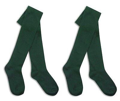 i2i Girls Cotton Rich Plain Knit Tights