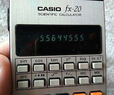 CASIO FX-20 calculadora científica VINTAGE year 1975 2