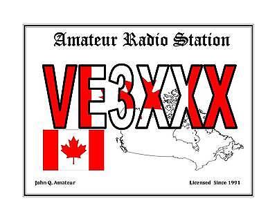 Personalized Amateur Radio Callsign Display Ham Radio Print