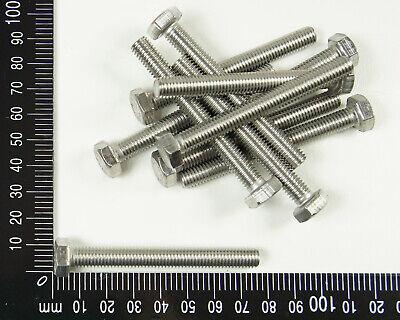 M8 M10 AußenSechskant Schrauben 304 Edelstahl Praktisch Bolzen Mehrere Länge