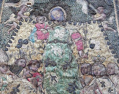 """18th-19th Century Embroidery-Aquaforte-Oil St. Joseph """"Patrocinium"""" 2"""