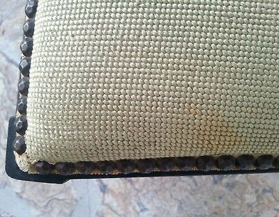 Antique Harp Chair Walnut with Needle point 10