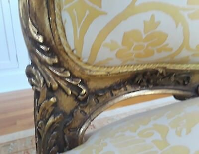 A SET OF FOUR SENSATIONAL French Louis XV Style (19th Cent) Gilt Armchairs 4