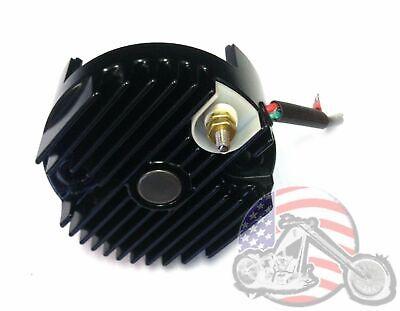 Black 12 Volt Solid State Voltage Regulator Generator End Cover Harley Sportster