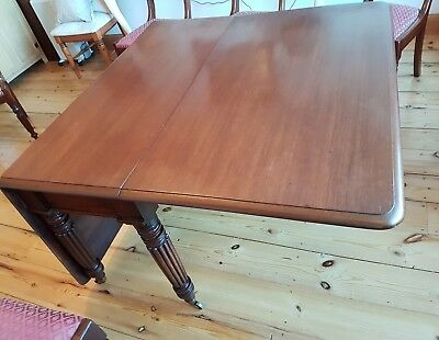 William IV dining table & chairs antique 9