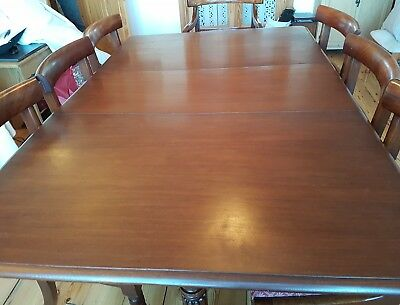 William IV dining table & chairs antique 8