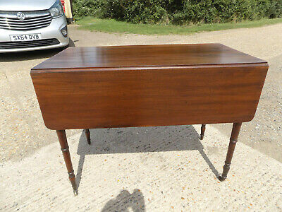 antique,victorian,mahogany,pembroke,table,drop side,extending,drawer,tall legs 6