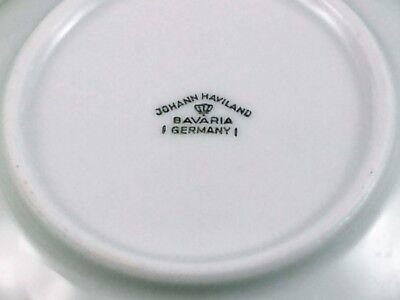 Blue Garland Berry Bowls Set of 4 Johann Haviland Bavaria Germany Platinum Trim 5
