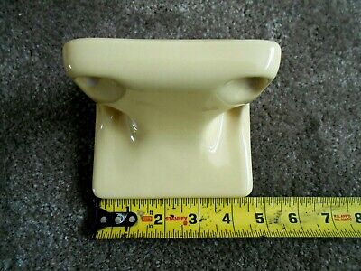 VTG Mid-Century Ceramic Yellow Bath Wall Mount Fixture 10 Piece Set (Pre-Owned) 9