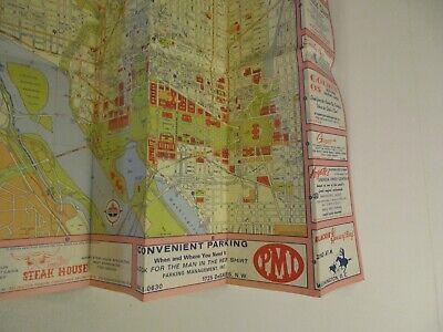 Vintage 1964 Holiday Inn Alexandria Virginia Hotel Travel Road Map Brochure-B2 7