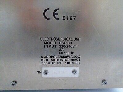 Olympus Psd-30 Electrosurgical Generator Surgical Coagulation Footswitch Unit Uk 7