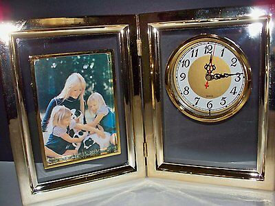 New Quartz Desk Clock Photo Frame Picture Frame 1450 Picclick
