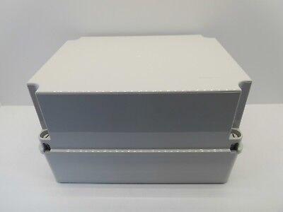GEWISS GW44208 240x190x90mm ENCLOSURE JUNCTION BOX PLASTIC WATERPROOF IP56 GREY
