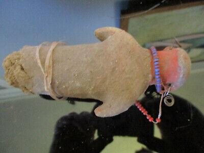 Vintage Primitive Columbian Mayan/Aztec Clay Mud Pottery Sculpture Figure Doll! 4