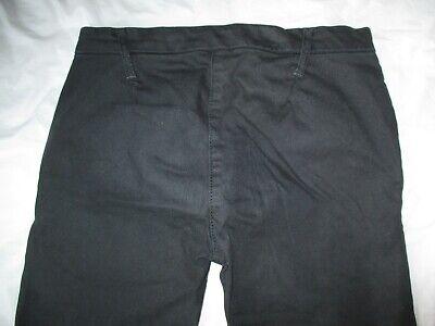 Calvin Klein Black Jeans Trousers Unusual Front Fastening Size 26 W28 L27 4