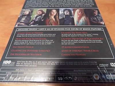 GAME OF THRONES Complete First & Second Seasons HBO SERIES 10-DISC DVD SET NEW 3