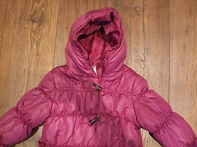 Z. Kids age 3 - 4 years girls coat pink plum padded zip up angel hooded CASUAL 4