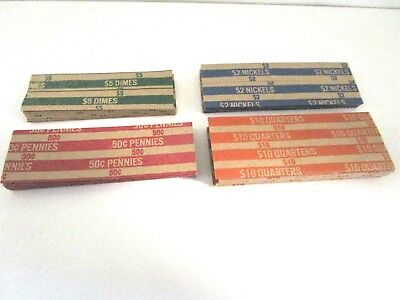 Dime Coin Wrapper Tubes 280 New Quarter Nickel /& Pennys  Pop-Open Flat Paper