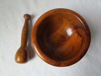 Holz-Mörser Holzmörser mit Pistill 14x7cm Pistill 14,5cm 5