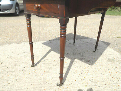 mahogany,pembroke,table,drop side,extending,drawer,tall legs,antique,victorian 5