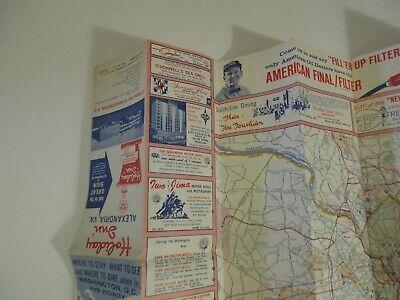 Vintage 1964 Holiday Inn Alexandria Virginia Hotel Travel Road Map Brochure-B2 10