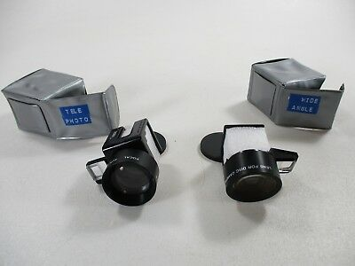 Kodak auxiliary lens set-telephoto and wide angle for Kodak disc cameras 8