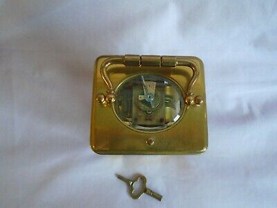 Antique 1880 Stunning Margaine  Repeater Carriage Clock + Key In Gwo 3