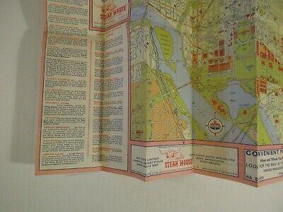 Vintage 1964 Holiday Inn Alexandria Virginia Hotel Travel Road Map Brochure-B2 8