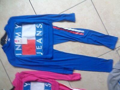 Girls bundle age 7-8-9-10 mix item clothes leggings hoodie logo top set tomy 2