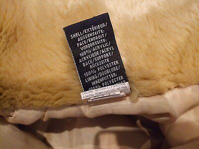 Z. Kids age 4 girls faux fur beige light brown jacket GAP size xs Smart CASUAL 10