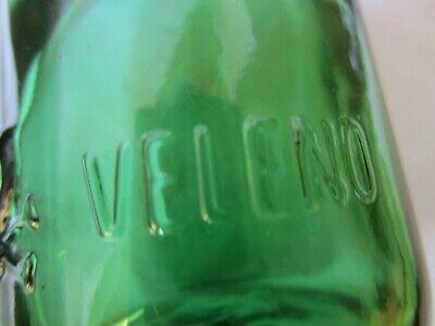 alte Apothekerflasche Giftflasche Totenkopf Gift-Flasche grün 25cl Poison Veleno 6