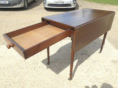 antique,victorian,mahogany,pembroke,table,drop side,extending,drawer,tall legs 4