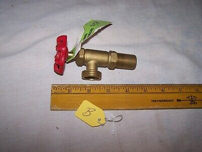 Unused Brass Washing Machine Valve with Red Handle - Lot B - Repurpose Steampunk 2
