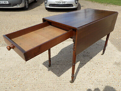 mahogany,pembroke,table,drop side,extending,drawer,tall legs,antique,victorian 3