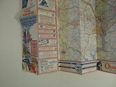 Vintage 1964 Holiday Inn Alexandria Virginia Hotel Travel Road Map Brochure-B2 11