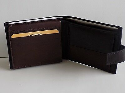 Middle Zip Section And Coin Pouch 90427 Real Leather Wallet With Clear Pockets