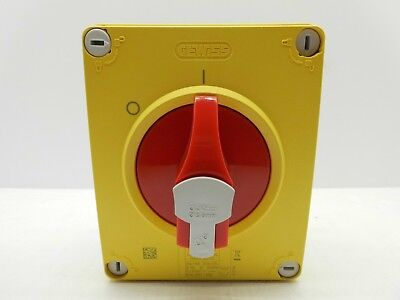 Gewiss Enclosed Rotary Isolator Switch 32A 4P 4 Pole 3 Phase /& Neutral TP/&N IP69