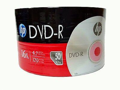 50 HP Blank 16X DVD-R DVDR Logo Branded 4.7GB Media Disc 2