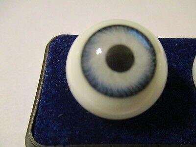 18 mm Vintage Brown Glasaugen Glass Eyes 11 mm Iris W Germany Doll Mannequin