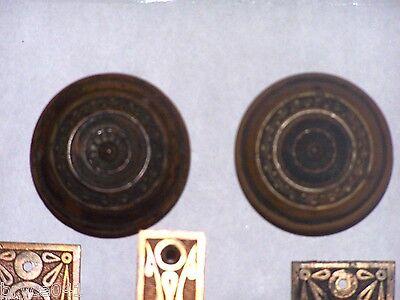 Antique Sargent Eastlake Door Lock Set 4