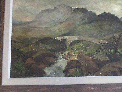 Mystery Artist Antique 19Th Century Painting Landscape River Stream Masterful 9