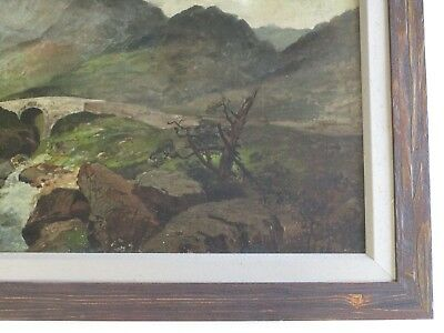 Mystery Artist Antique 19Th Century Painting Landscape River Stream Masterful 4