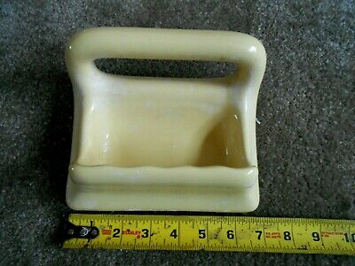VTG Mid-Century Ceramic Yellow Bath Wall Mount Fixture 10 Piece Set (Pre-Owned) 6