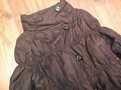Kids marks & spencer black padded winter girls jacket aged 7 - 8 years Smart 2