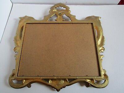 "Florentine Hollywood Regency Shell Gold tone Wall Mirror Ornate Italy 23¼"" W 7"