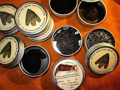 Birch Bark Pitch Otzi's Neolithic Tar Glue Premium 0.69 oz. Medium Gummy 19.6 gr